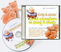 Great Adventure in Song and Story personalised CD for any name